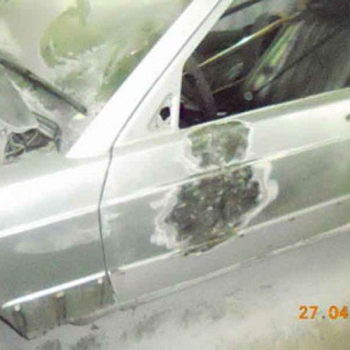 Во время покраски Mercedes-Benz, #9